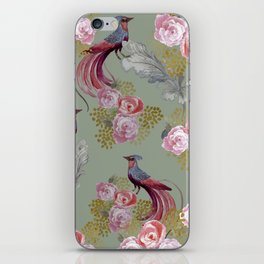 Birds of Paradise - Classic Pattern iPhone Skin