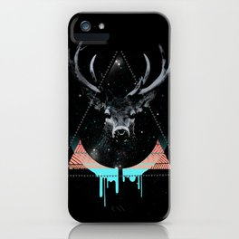 The Blue Deer iPhone Case