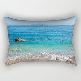 Capri Sea and Vesuvius in background Rectangular Pillow