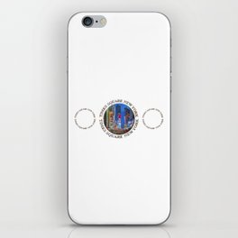 Times Square New York Triple Emblem (on white) iPhone Skin