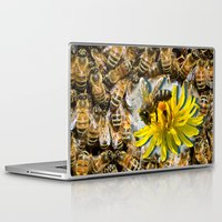 bees Laptop & iPad Skins featuring Bees by Moody Muse