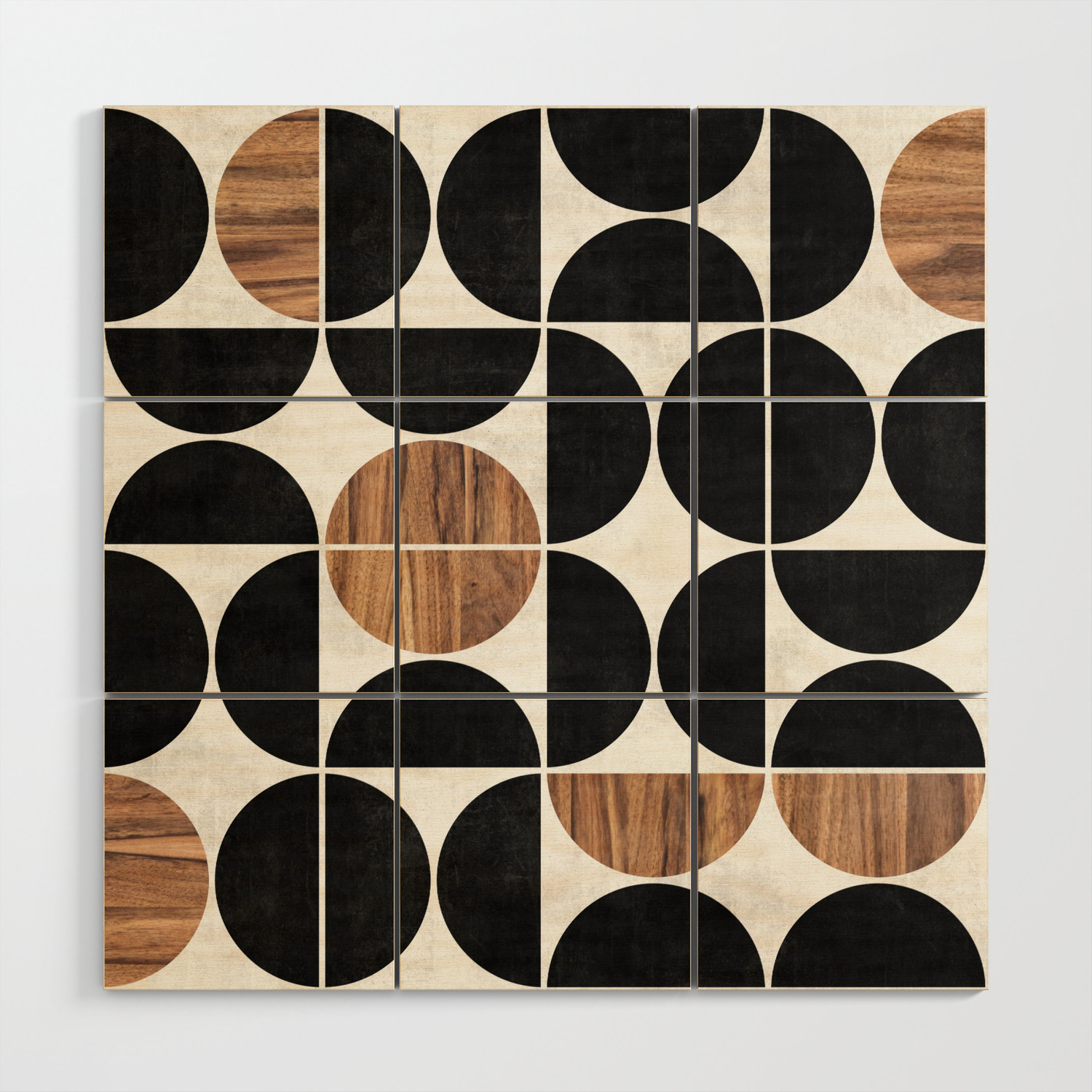 Mid Century Modern Pattern No 1 Concrete And Wood Wood Wall Art By Zoltanratko Society6