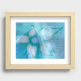 Flower in the Blue Lake Recessed Framed Print