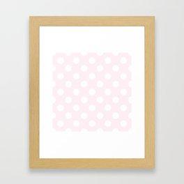 Lavender blush - pink - White Polka Dots - Pois Pattern Framed Art Print