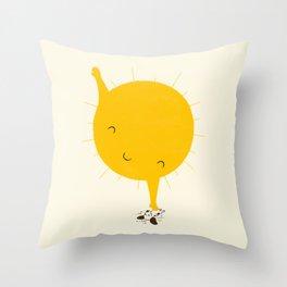 Belly Rub Throw Pillow