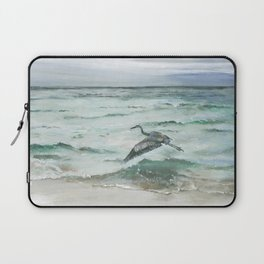 Anna Maria Island Florida Seascape with Heron Laptop Sleeve
