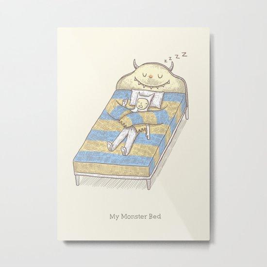 My Monster Bed Metal Print