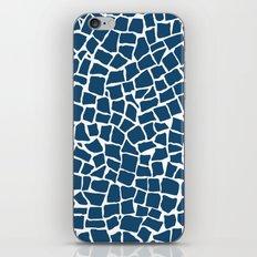 British Mosaic Navy and White iPhone & iPod Skin