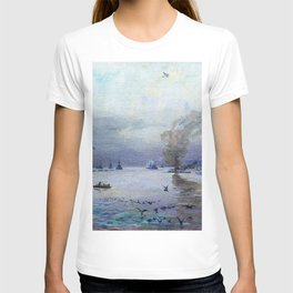 12,000pixel-500dpi - Sir John Lavery - The Fleet- a Misty Day - Digital Remastered Edition T-shirt
