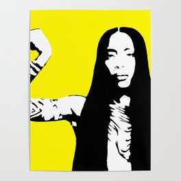 Erykah Stencil Poster