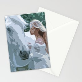 The White Maiden and A White Horse Stationery Cards