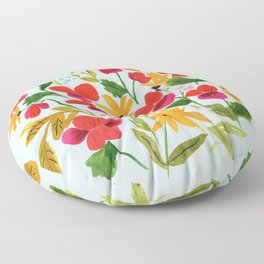 Pansies, Flowers, Happy, Sunshine, Sunflowers Floor Pillow