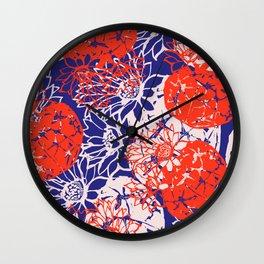 Astrophytum asterias blue night Wall Clock