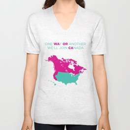 WA OR CA  girl Unisex V-Neck