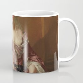 Portrait In Millennial Pink Taffeta Coffee Mug