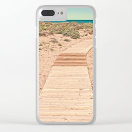 A Beautiful Spring Day at the Beach Clear iPhone Case