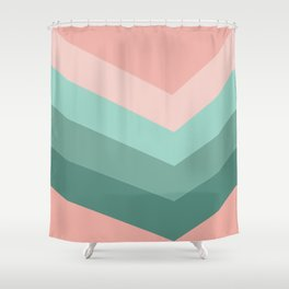 Retro pink and greeen Shower Curtain