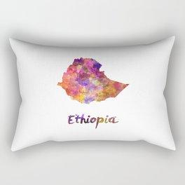 Ethiopia in watercolor Rectangular Pillow
