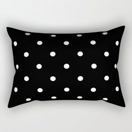 Dots BlackandWhite Rectangular Pillow