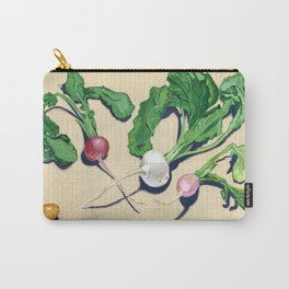 Easter Egg Radishes in Gouache Carry-All Pouch