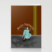 moto Stationery Cards featuring Moto Italiano by DavidERobinson