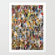 StarWars Characters Megaposters Art Print
