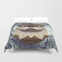 otters Duvet Covers featuring Ornate Otter by ArtLovePassion