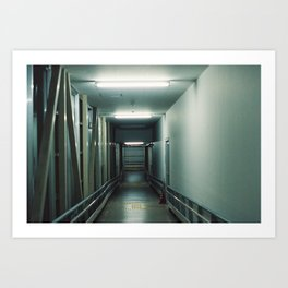 Nursing hallway Art Print