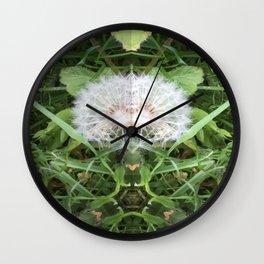 Green Bird (with Fascinator) Wall Clock