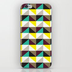 Yellow, purple, turquoise triangle pattern iPhone & iPod Skin