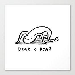 Honest Blob - Dear O Dear Canvas Print