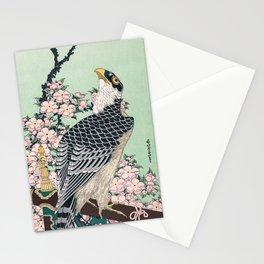 12,000pixel-500dpi - Katsushika Hokusai - Cherry blossoms and Eagle - Digital Remastered Edition Stationery Cards