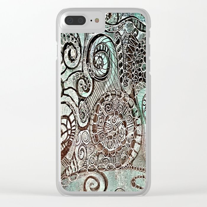 Journal Swirl Clear iPhone Case