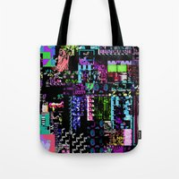 castlevania Tote Bags featuring Glitchy by ChadXilla