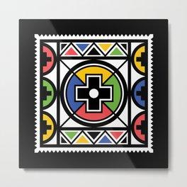 Ndebele Tribal Pattern Metal Print