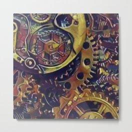 Gears of Time Metal Print