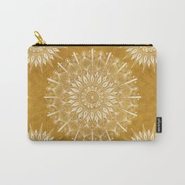 Vintage Mandala on Gold Carry-All Pouch