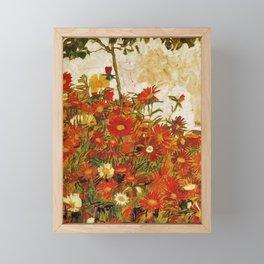 Egon Schiele Field of Flowers 1910 Framed Mini Art Print