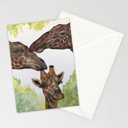 Giraffe Love by Maureen Donovan Stationery Cards