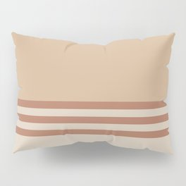 Cavern Clay SW 7701 and Creamy Off White SW7012 Horizontal Stripes on Ligonier Tan SW 7717 Pillow Sham