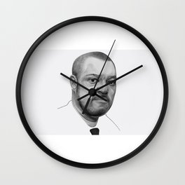 𝗡𝗼𝘃.𝟳   Society6 Online Photography - Home & Office Art - Laurence John Fishburne III TT43 Wall Clock