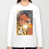 jasmine Long Sleeve T-shirts featuring Jasmine by Camila Marina Dos Anjos