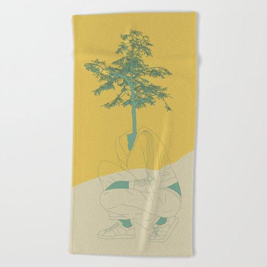 Woman Nature 2 Beach Towel