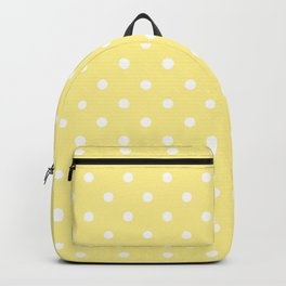 Buttermilk Yellow with White Polka Dots Backpack