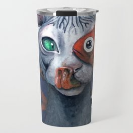 Cat And Fish Travel Mug