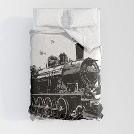 Riding the Rails - Vintage Steam Train Comforters