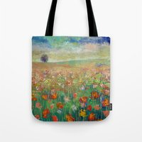 dancing Tote Bags featuring Dancing by Michael Creese