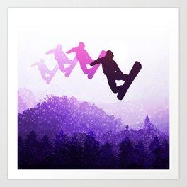 Snowboard Skyline IV Art Print