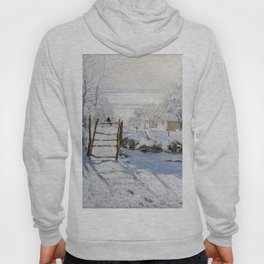 1869-Claude Monet-The Magpie -89 x 130 Hoody