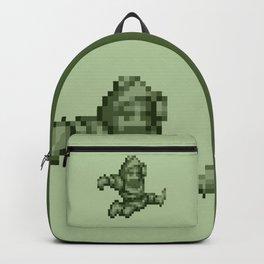 Ghosts n Goblins Sir Arthur monochrome Backpack